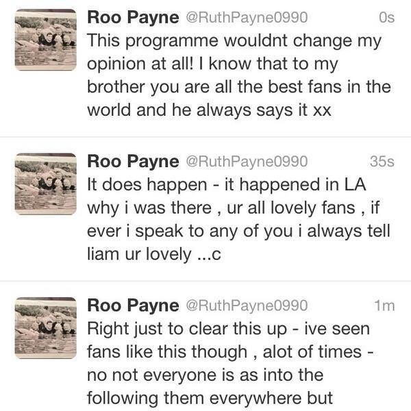 """Ruth Payne twetts about the documentary """"Crazy about One Direction"""""""