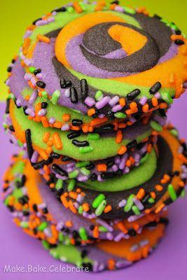 Swirly Halloween Cookies..step by step