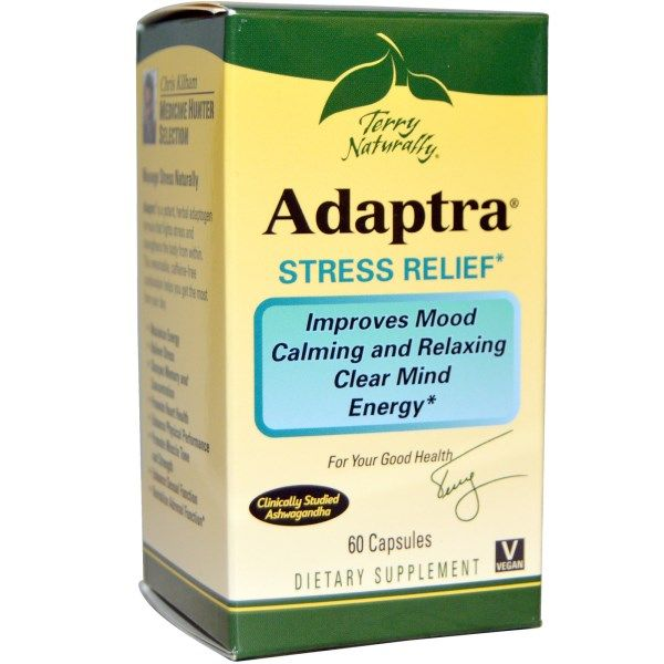 EuroPharma, Terry Naturally, Adaptra, 60 Capsules  #stress #formula #support #balance #management #iherb #thingstobuy #shopping #relief