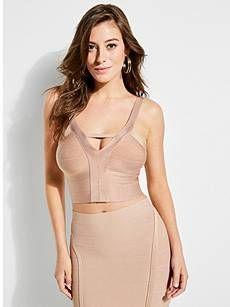 b25cc6db61a Mirage Bandage Crop Top | GUESS.com | Fashion Inspo in 2019 | Crop ...
