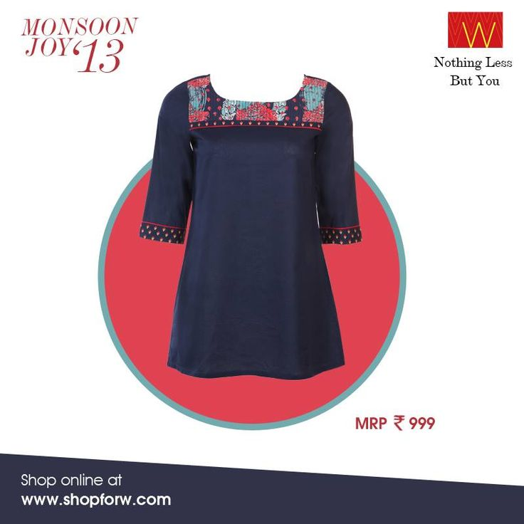 Outdoor coffee meetings need you to look sophisticated yet stylish. Which is why we bring you this lovely kurti  Get it here: www.shopforw.com  #sophisticated #stylish #kurta #MadeinIndia #ethnic #wear #sleeves #blue #bold