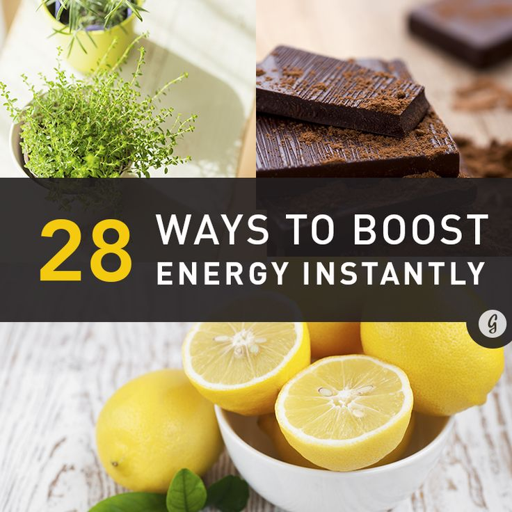 Try out these proven energy boosters!
