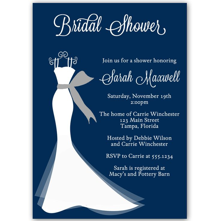 39 best Wedding Gown Invitations images – Wedding Dress Shower Invitations
