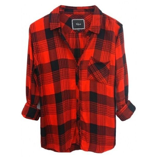 Rails Hunter ButtonDown Shirt In Red Blacl ($137) ❤ liked on Polyvore featuring tops, shirts, red button down shirt, shirts & tops, rayon tops, button up tops and button up shirts
