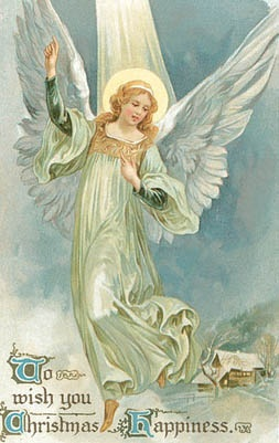 vintage Christmas card....Angel
