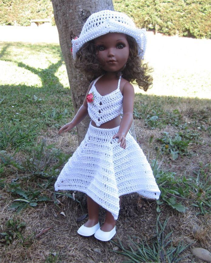 95- FICHE PATRON Tenue Barbara au crochet pour poupée Vidal Rojas : Jeux, jouets par atelier-crochet