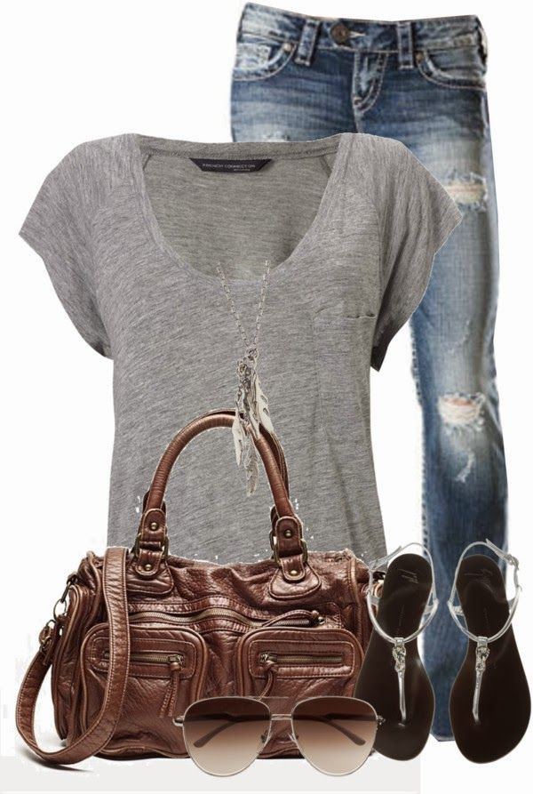 Get Inspired by Fashion: Casual Outfits | Comfy Casual find more women fashion on misspool.com
