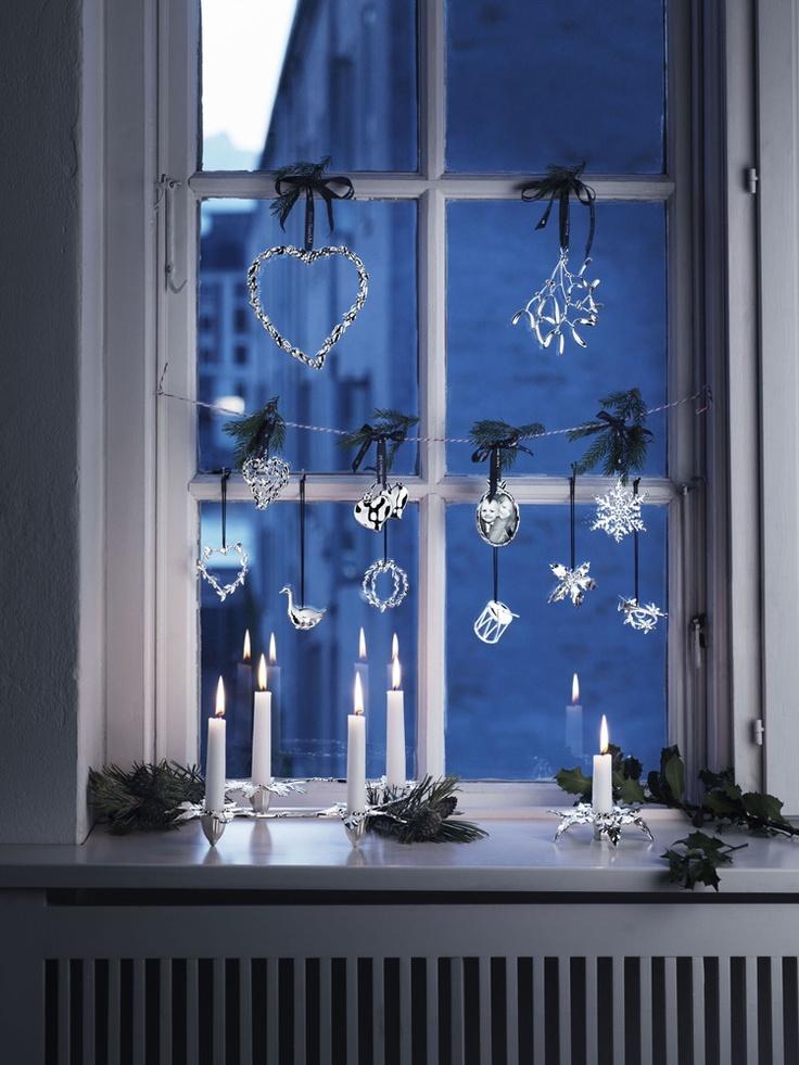 Silver, Rosendahl Design Nordic #christmas shoppen. design Christmas tree ornaments. Copenhagen Denmark  #Retouch made by #creamwork