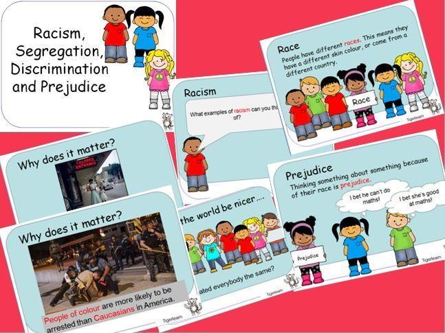 Racism, Discrimination, Prejudice and Segregation PPT for vocab and discussion