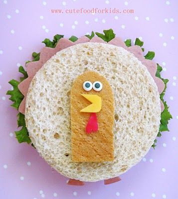 Your kids will 'gobble' this down! #lunchbox ideas