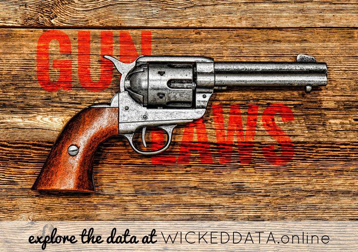 Gun Laws #politics #crime #murder #dataviz