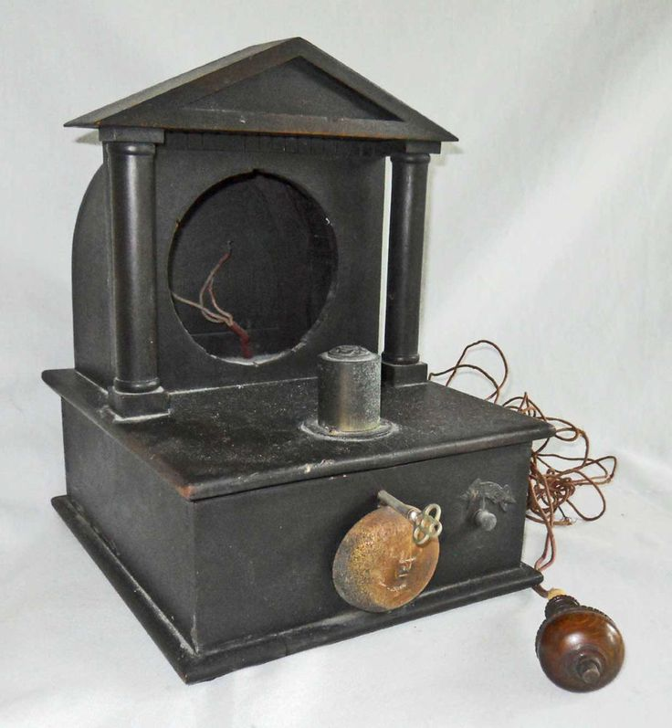 Antique Victorian Battery Electric Flashlight Remote Illuminated Alarm Clock