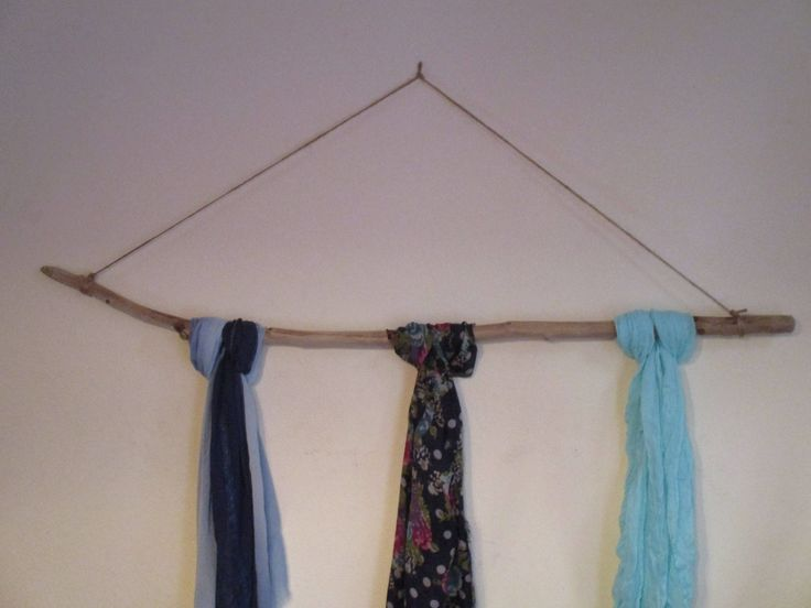 "Large Driftwood Stick Scarf -Belt Holder - Clothes Rack - Display for Boutique Organizer  ""Beach Style"" by TheTearsofMermaids on Etsy"