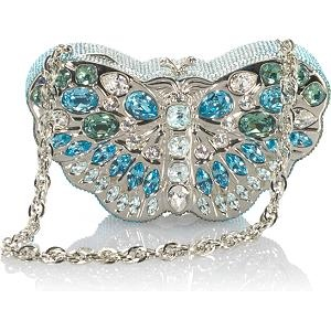 Judith Leiber Crystal Butterfly Evening Bag