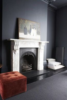 grey (our fire surround is black though)