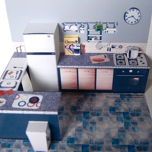 PAPER HOUSE: Room r dollhousepaper: Two rooms popup by Instructables