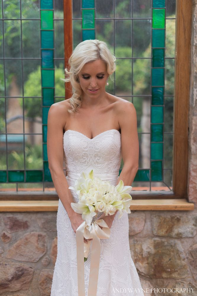 The gorgeous Natasha in her Oleg Cassini #wedding gown - available exclusively from Bride&co. Click to view more Real #Brides #brideandco #BrideandcoSA