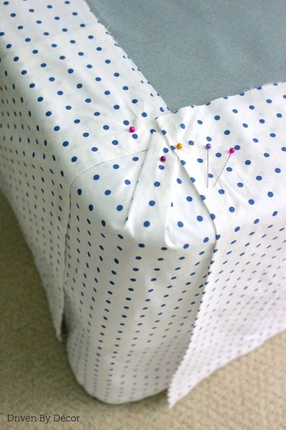 I need to make one of these for the antique bed. DIY Custom Bedskirt From Flat Sheet :: Hometalk