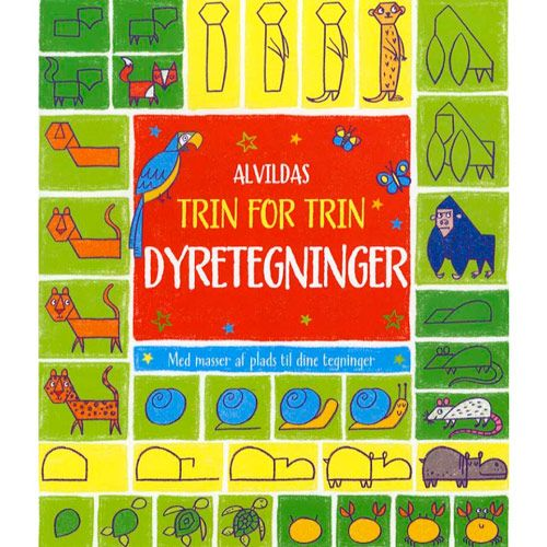 Alvildas Trin for Trin Dyretegninger | Træd ind i dyrenes verden