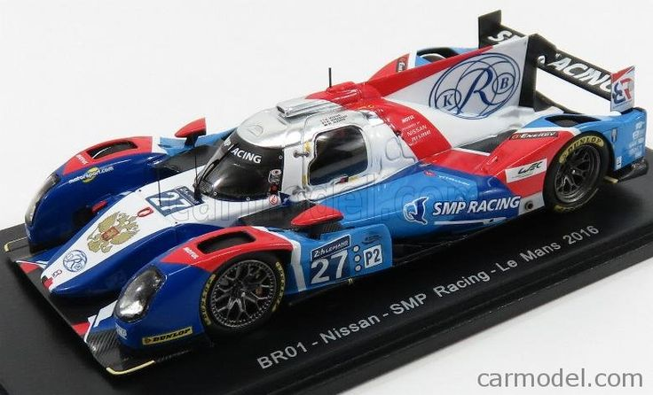 SPARK-MODEL S5112 Scale 1/43  NISSAN BR01 TEAM SMP RACING N 27 24h LE MANS 2016 N.MINASSIAN - M.MEDIANI - M.ALESHIN BLUE WHITE RED