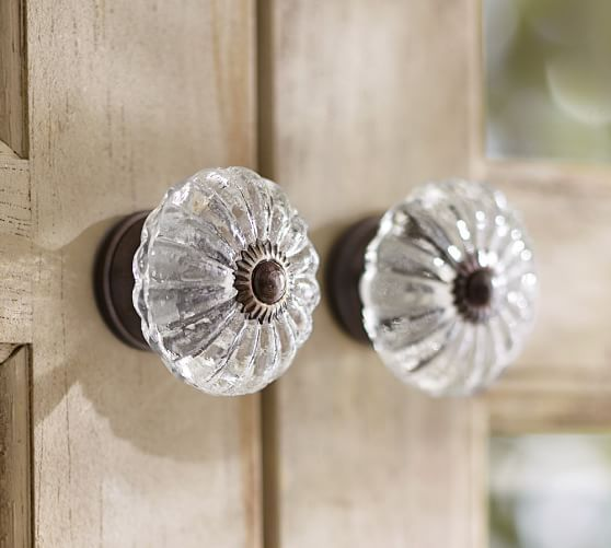 7 Free Shipping Vintage Glass Knob Bronze Finish Lake