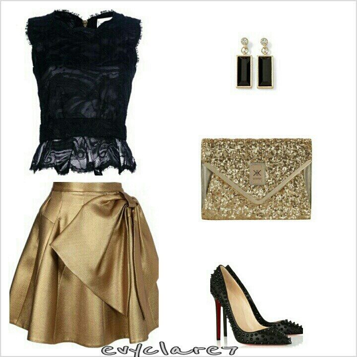 Black And Gold Outfit Fashion Fashion Outfits Black Gold Outfit