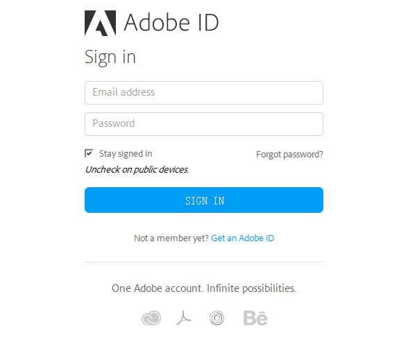 Video demonstration and instructions on how to use the Adobe Login.