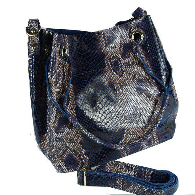 3 Cores Brilhantes Da Moda Mulheres de Luxo Cobra Grão 100% de Alta Qualidade de Couro Real Estilo Balde Designer Bolsas B1125