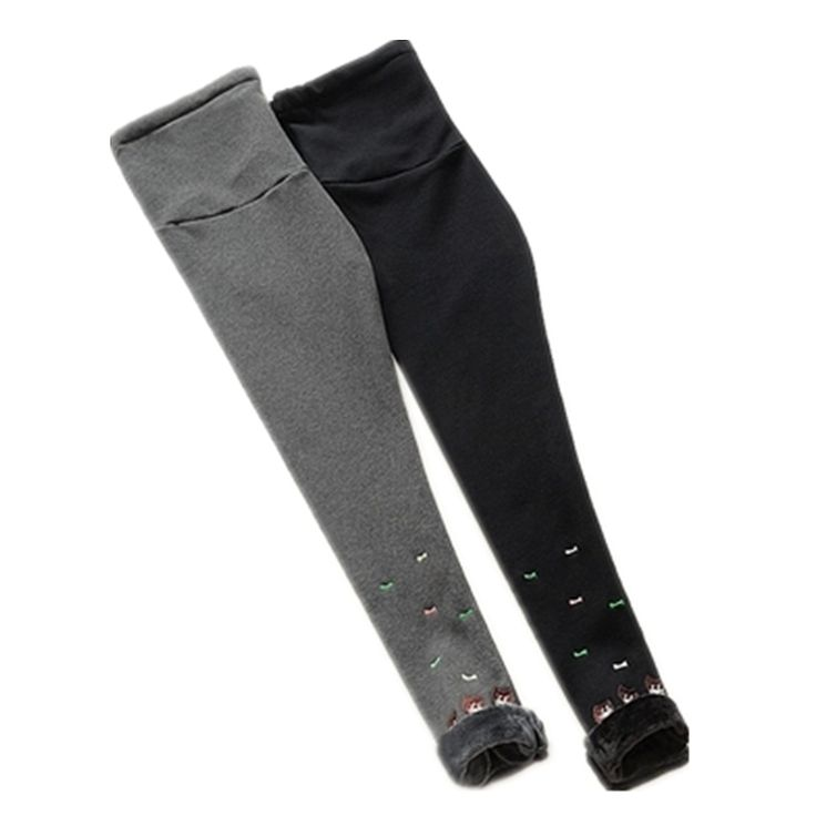 Prop belly waistband design can be freely adjusted Winter plus thick velvet leggings Dark gray and black colors are very classic fashion, pregnant mothers must buy style Oh
