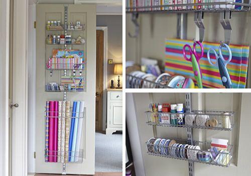 Over Door Gift Wrap Store   Elfa At STORE. Over Door Elfa Solution To Store  Your Gift Wrap, Cards, Craft Supplies.