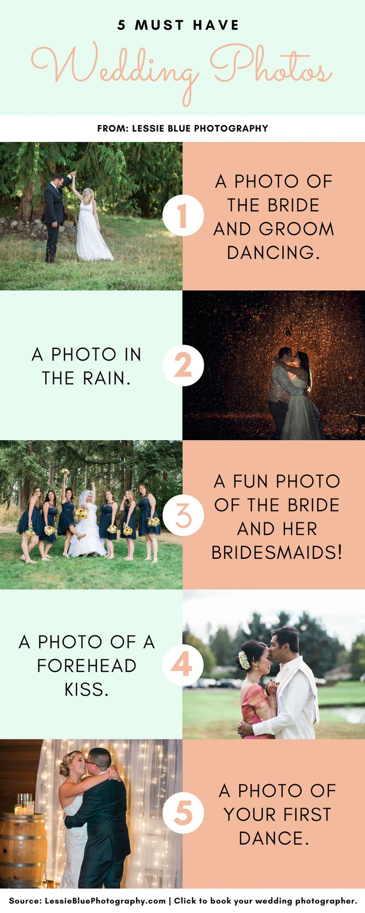 These five photos are must-haves on your wedding day!  #WeddingPhotos