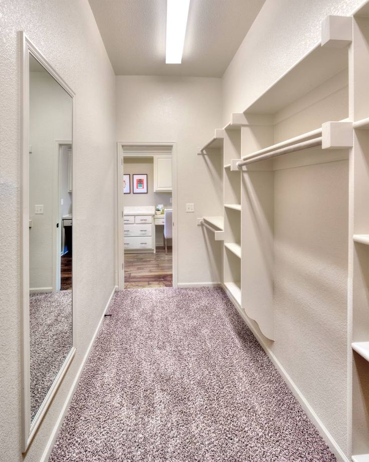 Walk In Closet Storage In The Master Suite Of The Meadowbrook Floor Plan By Summit Custom Homes
