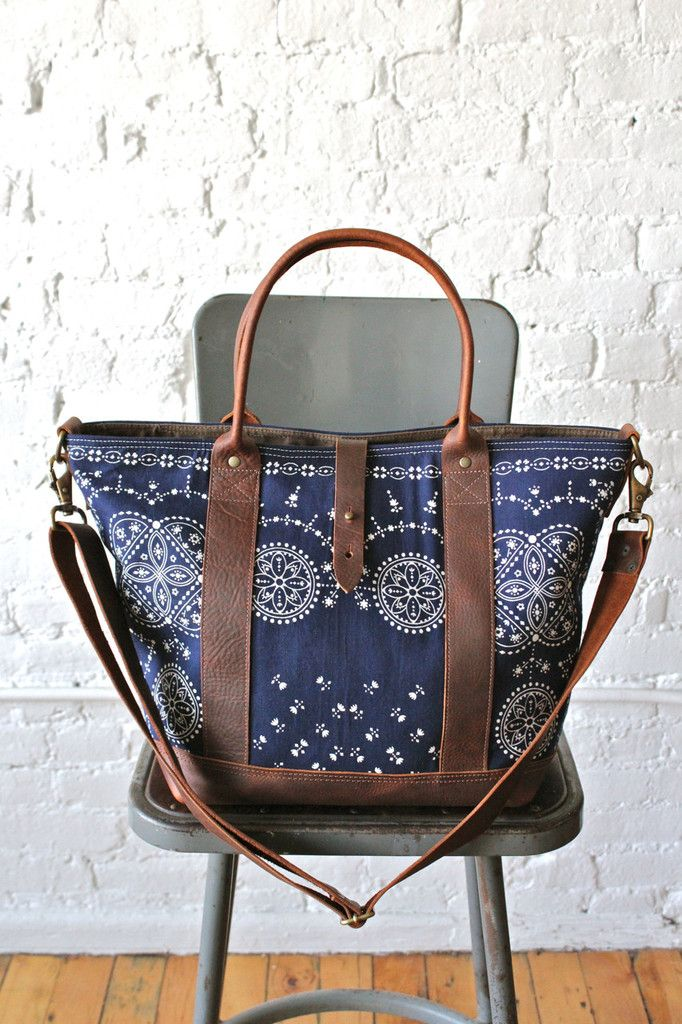 Forestbound Original Bag Company - 1950s era Bandana Weekend Bag #Menswear Like our FB page https://www.facebook.com/effstyle