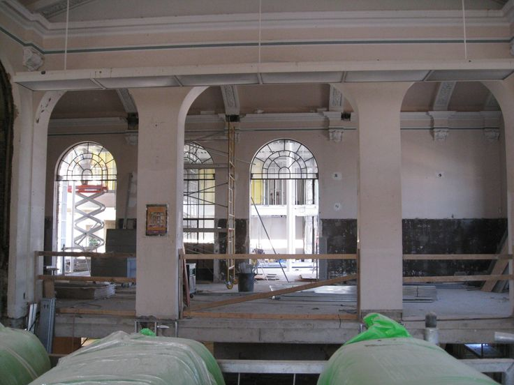 Bloor Gladstone Branch - during renovation.