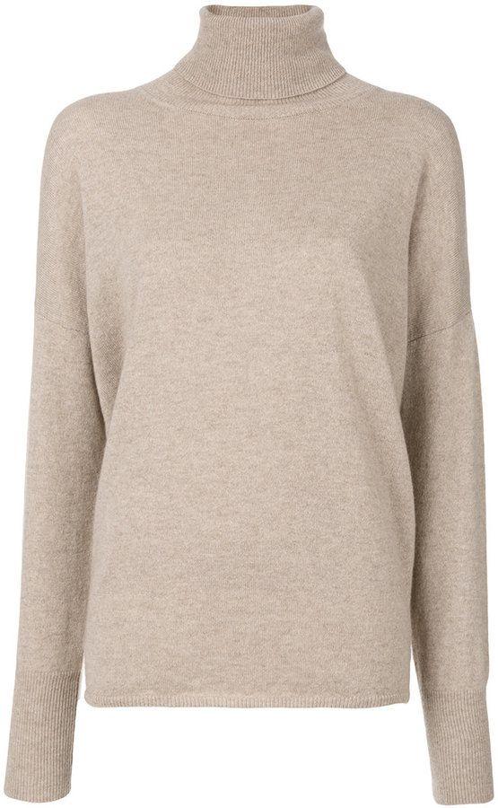 Incentive! Cashmere oversized roll neck jumper