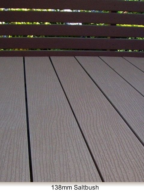 Saltbush colour recycled material decking from Futurewood NZ (made from recycled milk bottles and rice husks!). Could be a good option for the decking