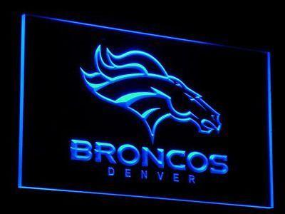 "Denver Broncos LED Neon Sign NFL Football Light 8"" X 12"" in Sports Mem, Cards & Fan Shop, Fan Apparel & Souvenirs, Football-NFL | eBay"