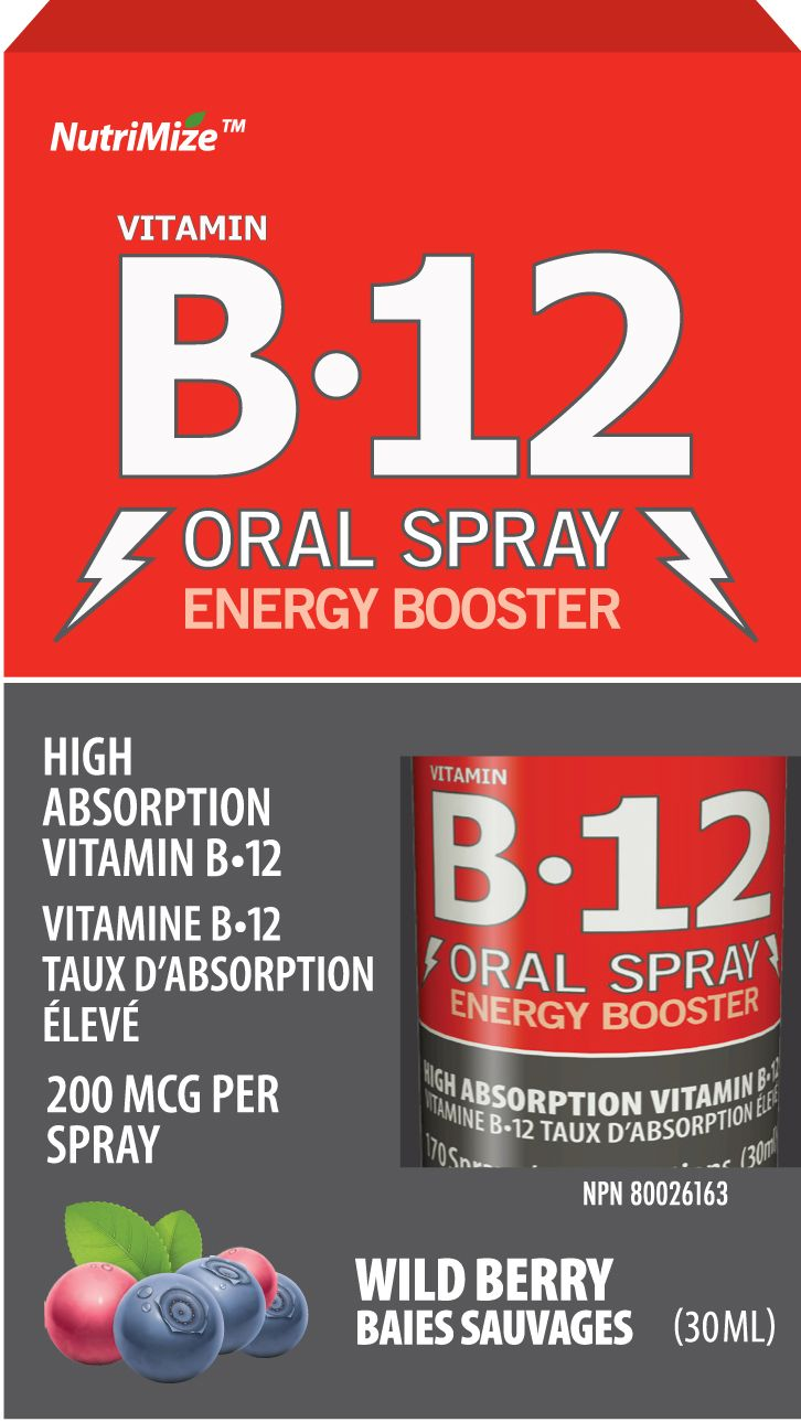 This amaaazing B12 spray tastes like candy! But will give you energy all day in just 3 sprays!