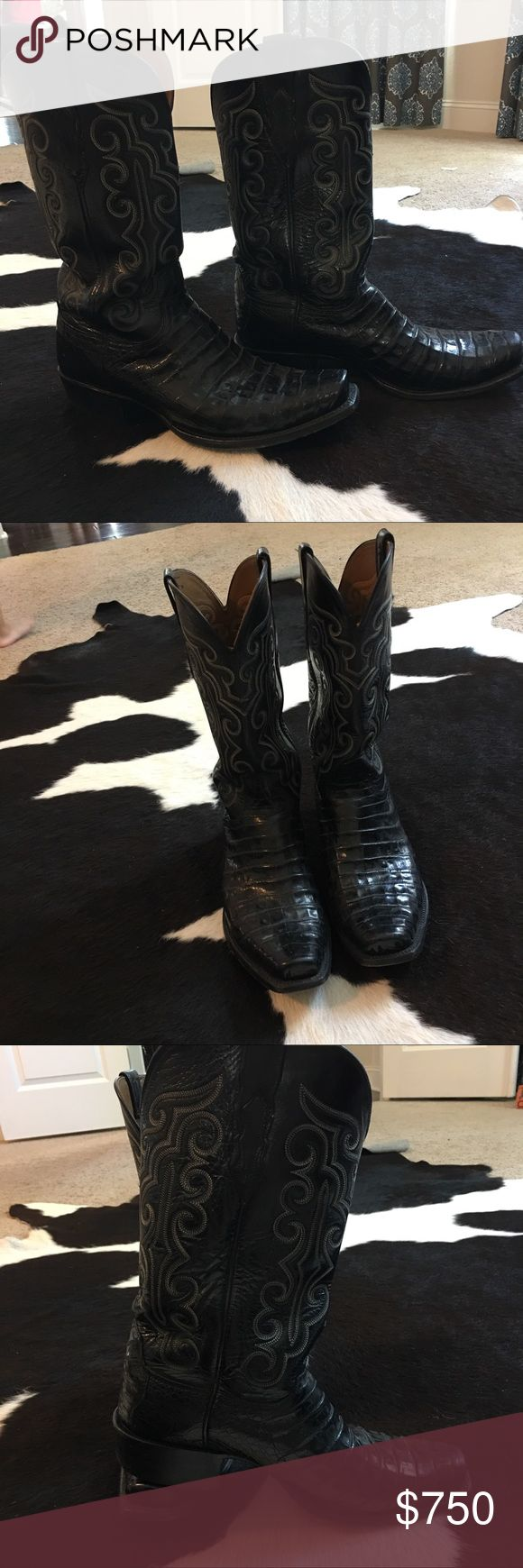 Luchese Caiman boots Men size 11 Caiman leather cowboy boots luchese Shoes Boots