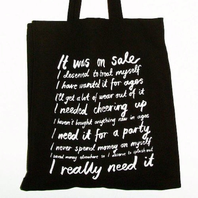 Love shopping? Love this shopping bag! Buy it here http://m.notonthehighstreet.com/karinakesson/product/love-to-shop-canvas-bag