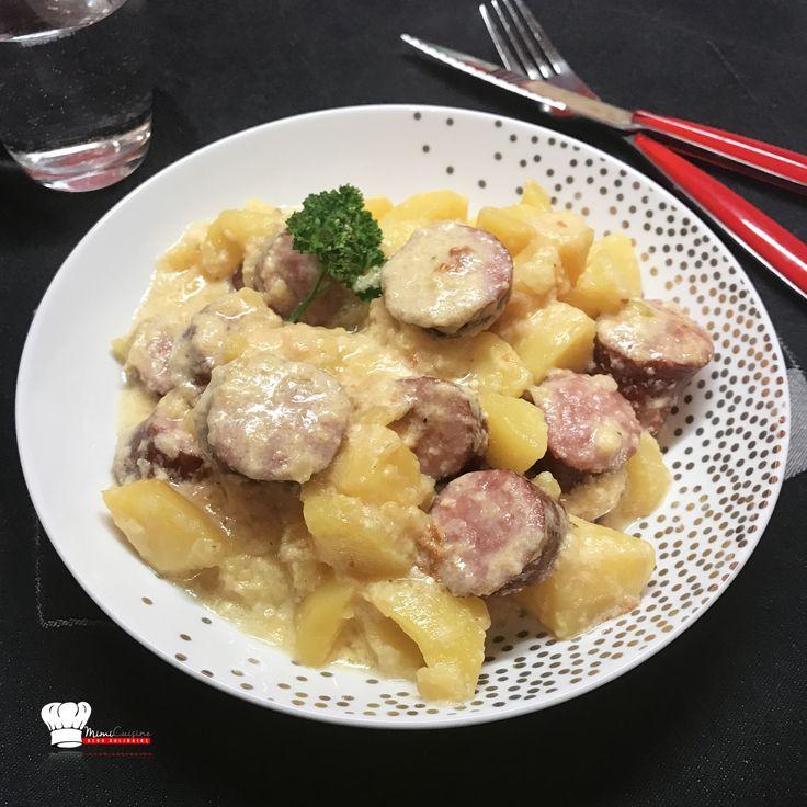 Saucisses Pomme de Terre Tartiflette Recette Cookeo