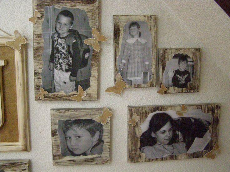 fotky na dřevě