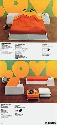 lit double MARC HELD pour le cataolgue PRISUNIC  années 70 , très novateur et bon marché