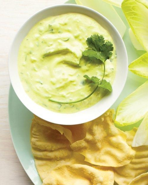 Spicy Yogurt and Cucumber Dip with Pappadams Recipe