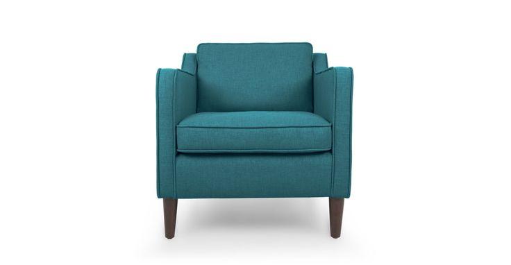 Cherie Ocean Teal Armchair