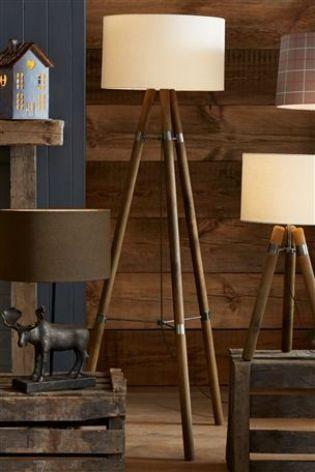 wooden floor lamp from next