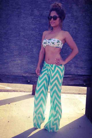 So getting these chiffon pants! They are great for over swimsuit bottoms!!