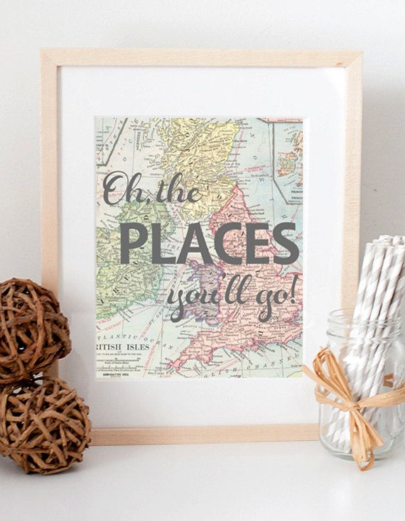 Hey, I found this really awesome Etsy listing at https://www.etsy.com/listing/163236704/oh-the-places-youll-go-dr-seuss-vintage