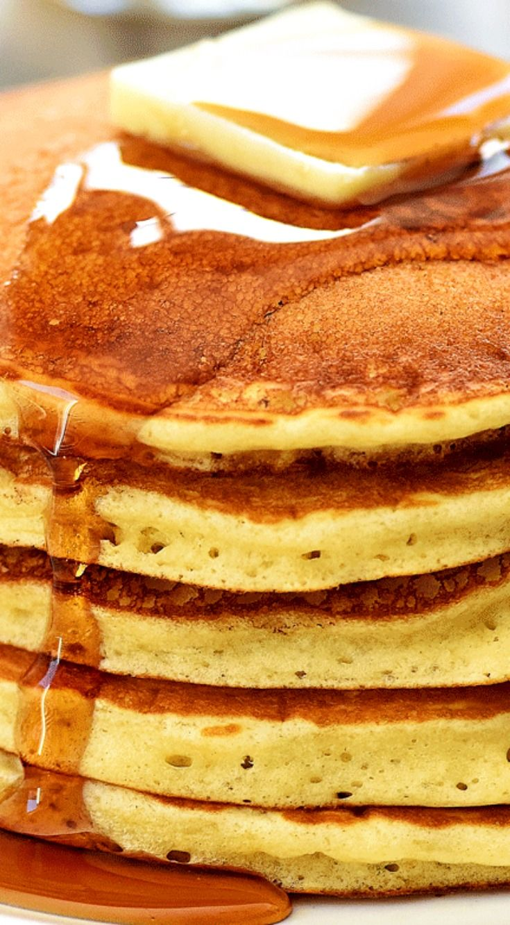IHOP Pancakes (copycat) ~ Fluffy and delicious homemade pancakes that taste like the ones from IHOP restaurant!
