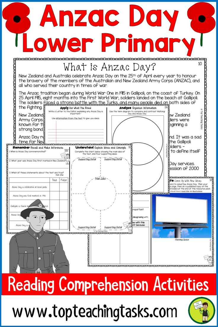 Engage your students in the Anzac Commemorations with our fantastic reading pack. Who were the men of the 28th Māori Battalion, and what's the deal with poppies? This pack includes FIVE Lower Primary non-fiction passages with six pages of engaging text-dependent questions and higher-order thinking tasks. These activities are great for your guided reading program, or as homework tasks. #AnzacDay #AnzacDayActivities #AnzacDayReading